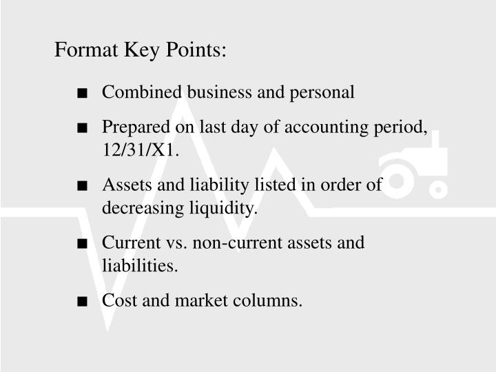 Format Key Points: