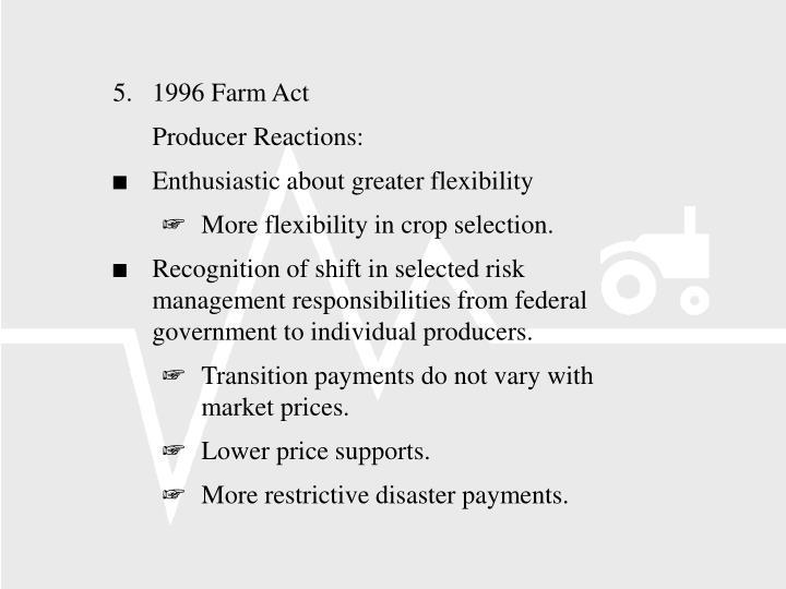 5.1996 Farm Act