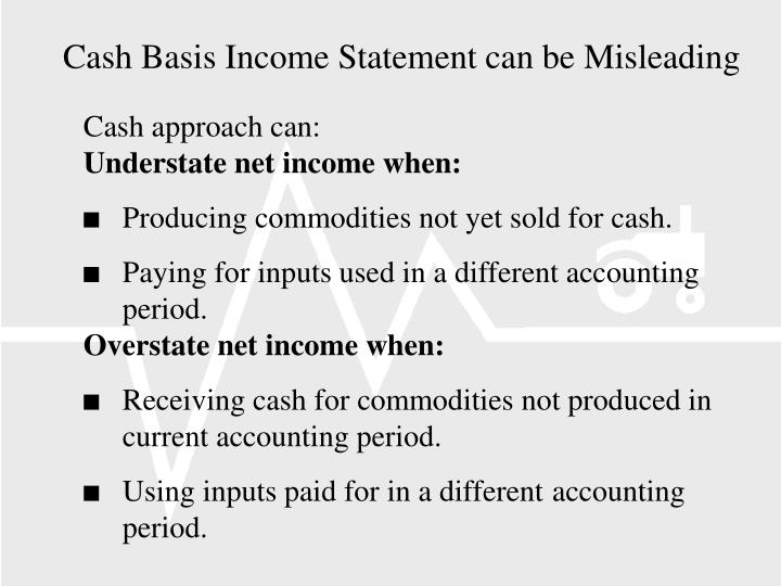 Cash Basis Income Statement can be Misleading