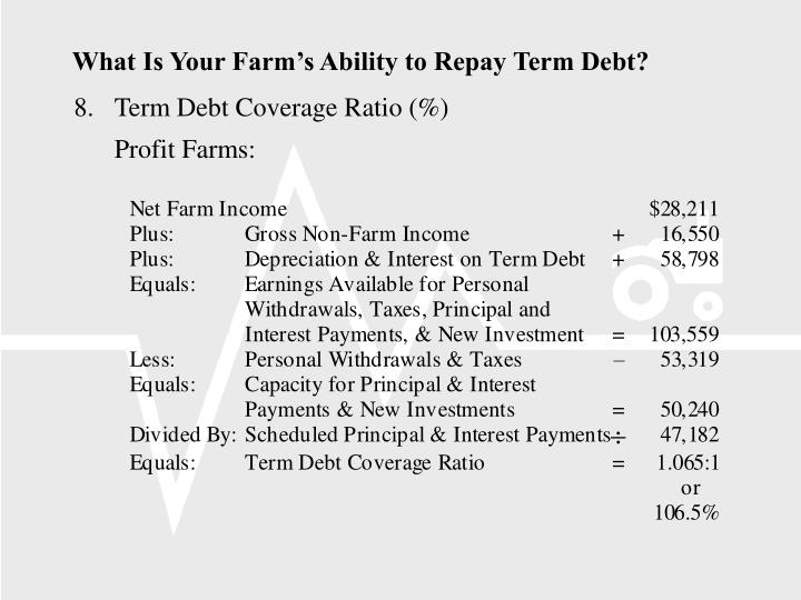 What Is Your Farm's Ability to Repay Term Debt?