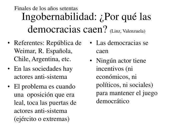 Referentes: República de Weimar, R. Española, Chile, Argentina, etc.