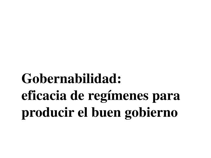 Gobernabilidad: