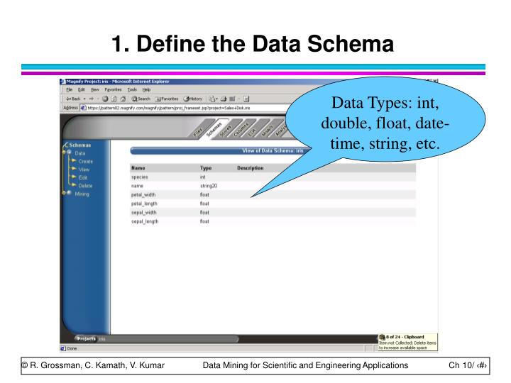 1. Define the Data Schema