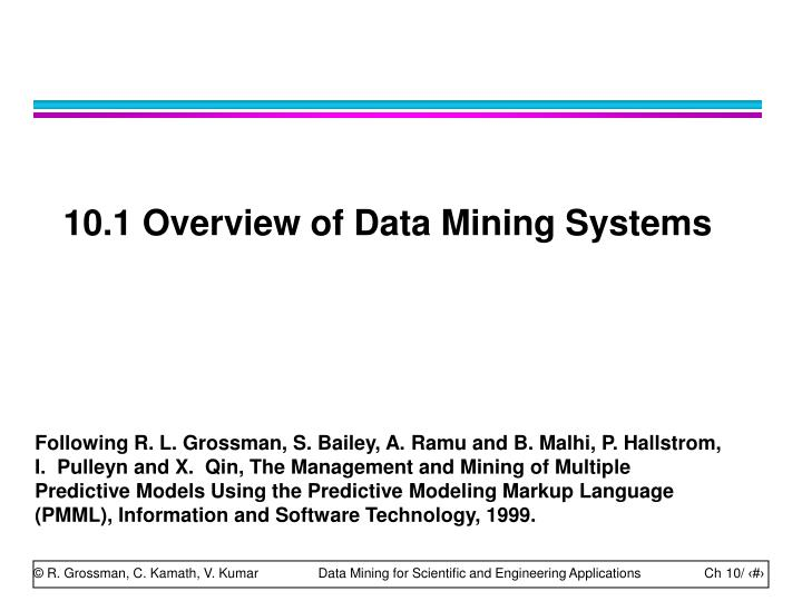 10.1 Overview of Data Mining Systems