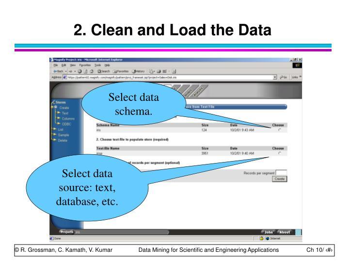 Select data schema.