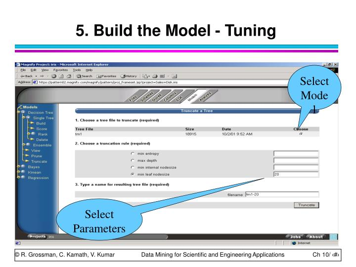 5. Build the Model - Tuning