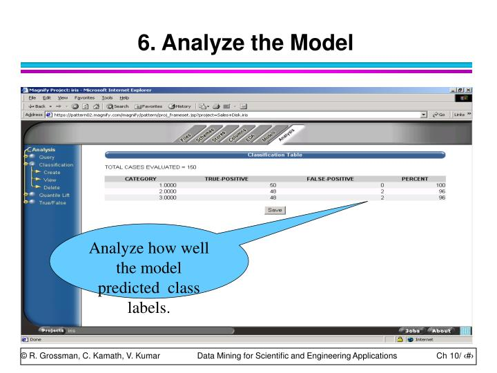 6. Analyze the Model