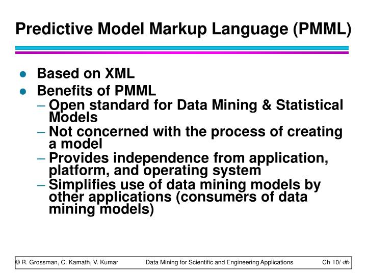 Predictive Model Markup Language (PMML)