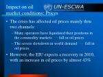 impact on oil market conditions prices