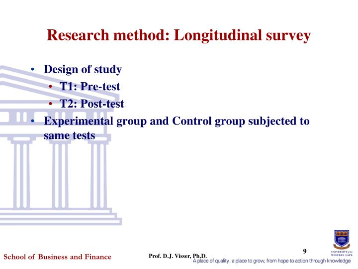 Research method: Longitudinal survey