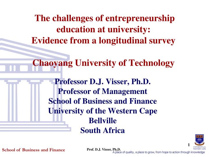 The challenges of entrepreneurship education at university: