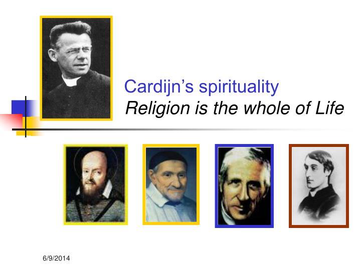 Cardijn's spirituality