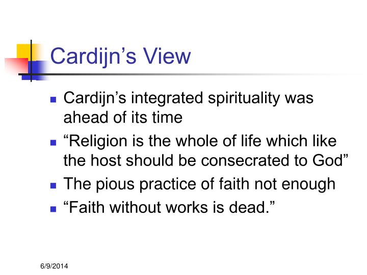 Cardijn's View