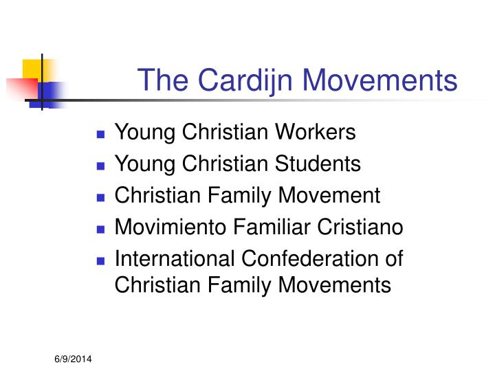 The Cardijn Movements
