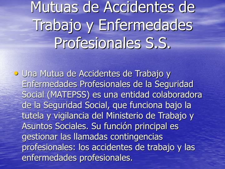 Mutuas de Accidentes de Trabajo y Enfermedades Profesionales S.S.