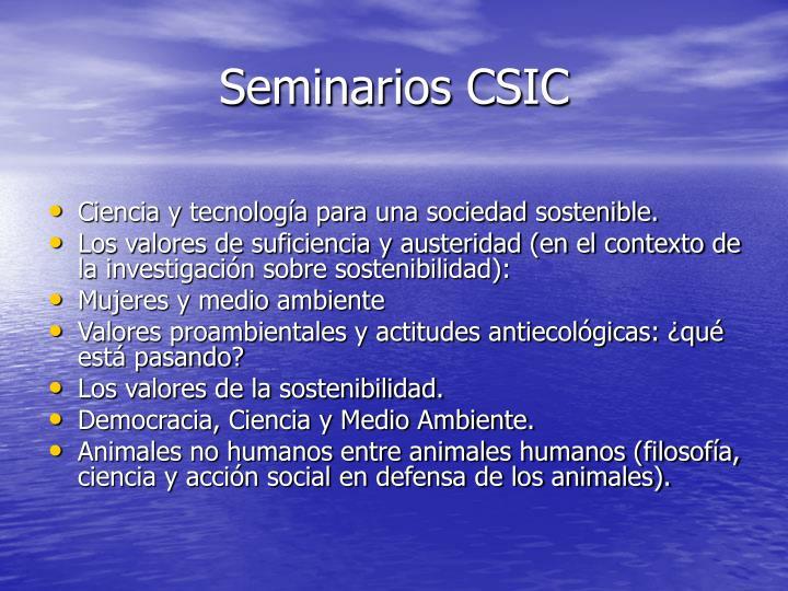 Seminarios CSIC
