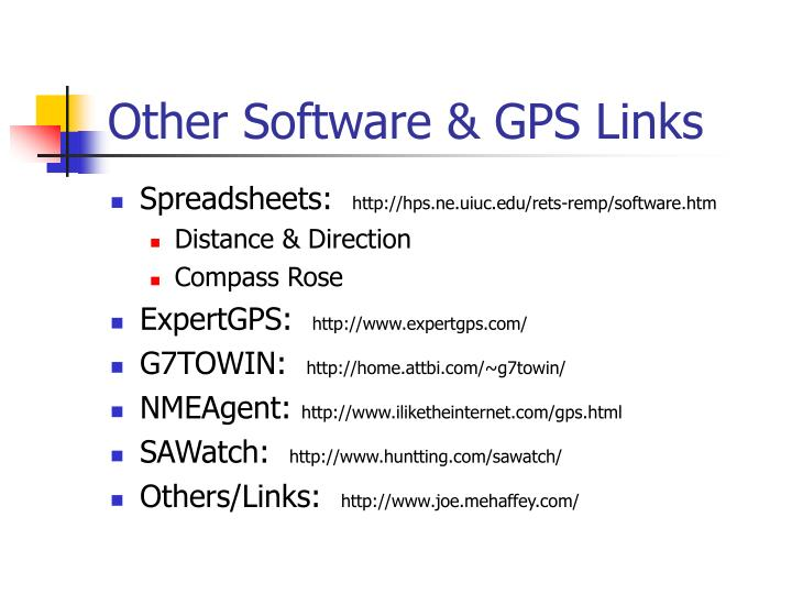 Other Software & GPS Links