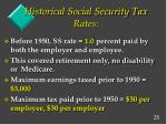 historical social security tax rates
