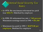 historical social security tax rates1