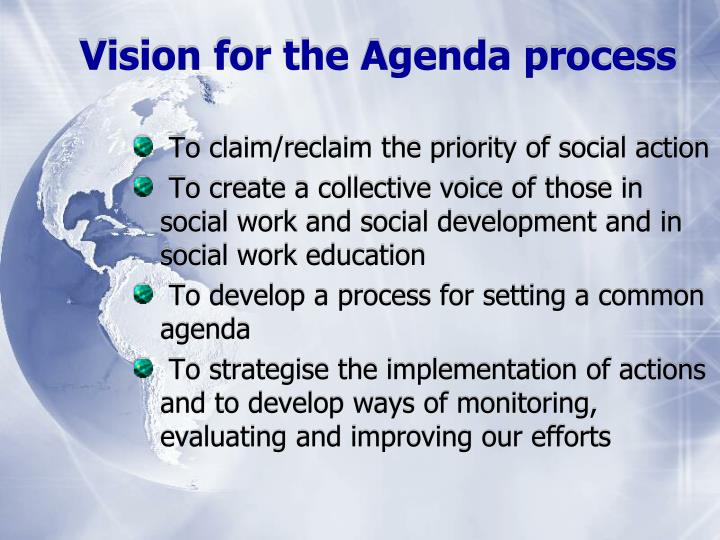 Vision for the Agenda process