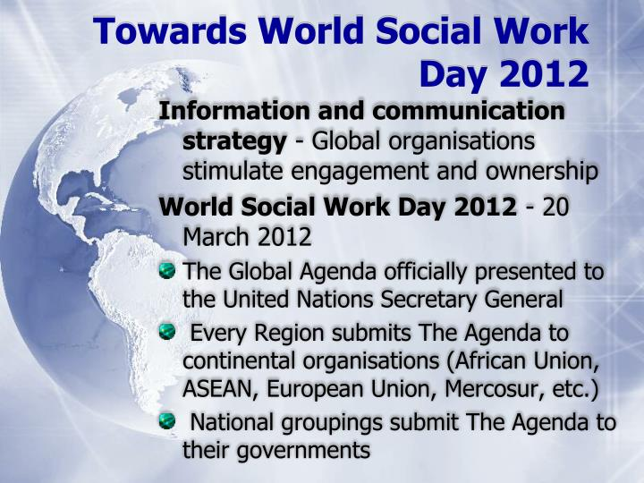 Towards World Social Work Day 2012