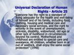 universal declaration of human rights article 25