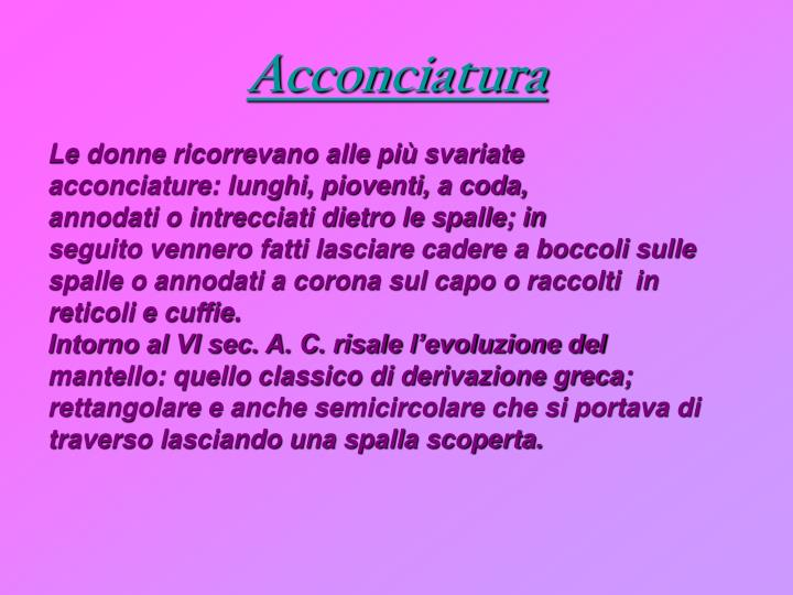 Acconciatura