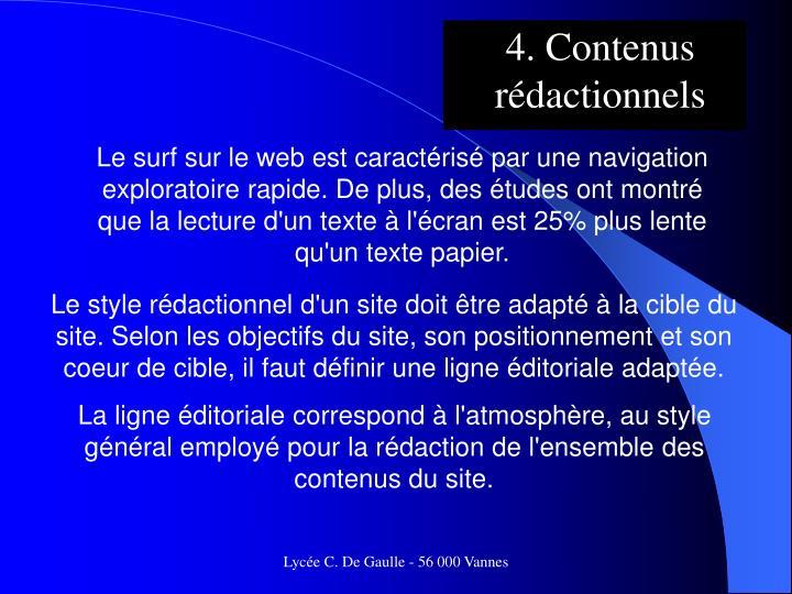 4. Contenus rédactionnels