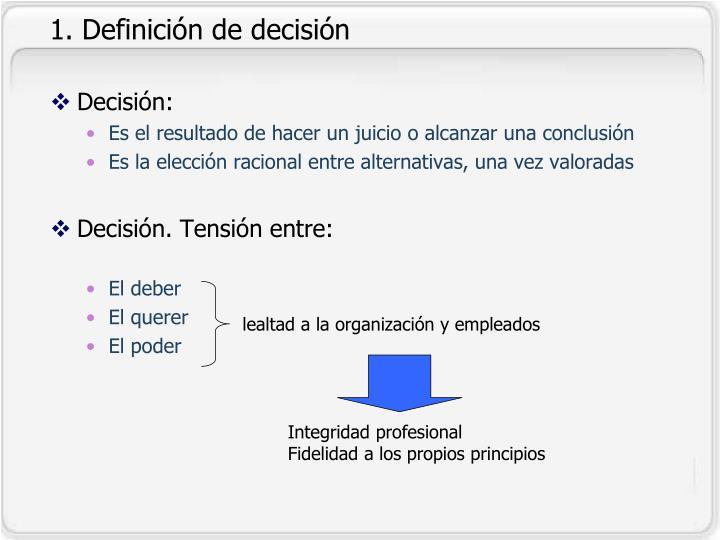 1. Definición de decisión