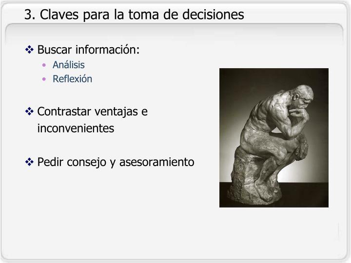 3. Claves para la toma de decisiones