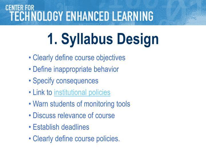 1. Syllabus Design