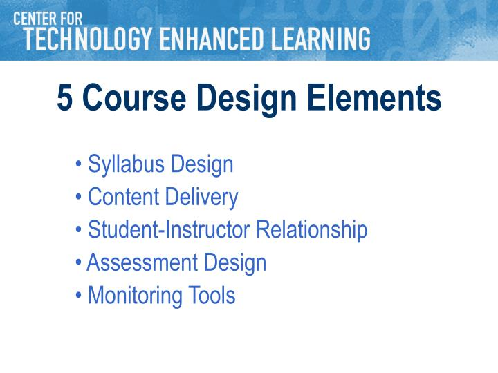 5 Course Design Elements