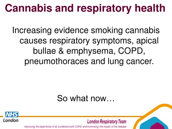 Cannabis and respiratory health