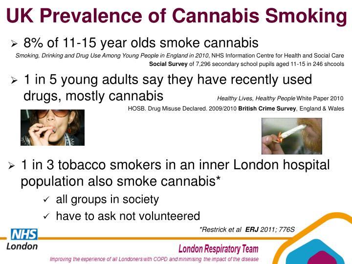 UK Prevalence of Cannabis Smoking