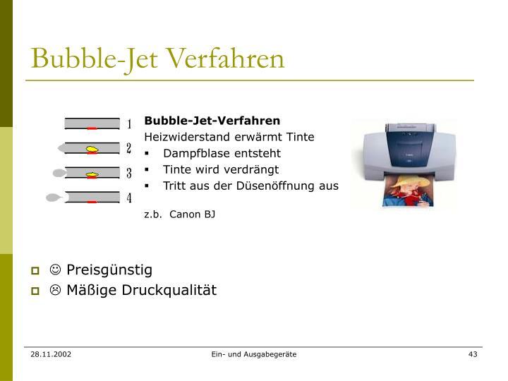 Bubble-Jet Verfahren