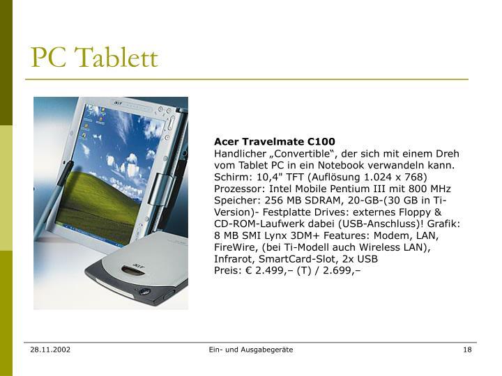 PC Tablett