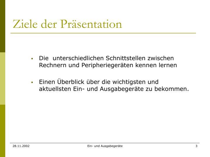 Ziele der Präsentation