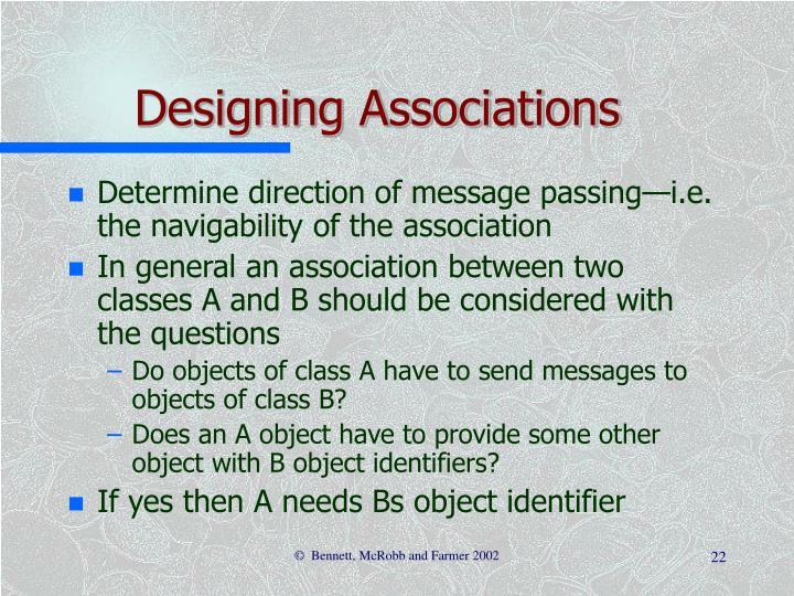 Designing Associations