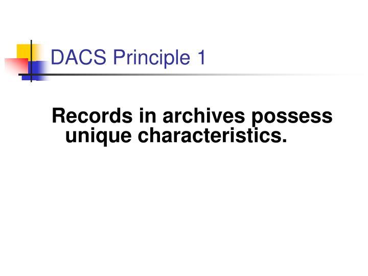 DACS Principle 1