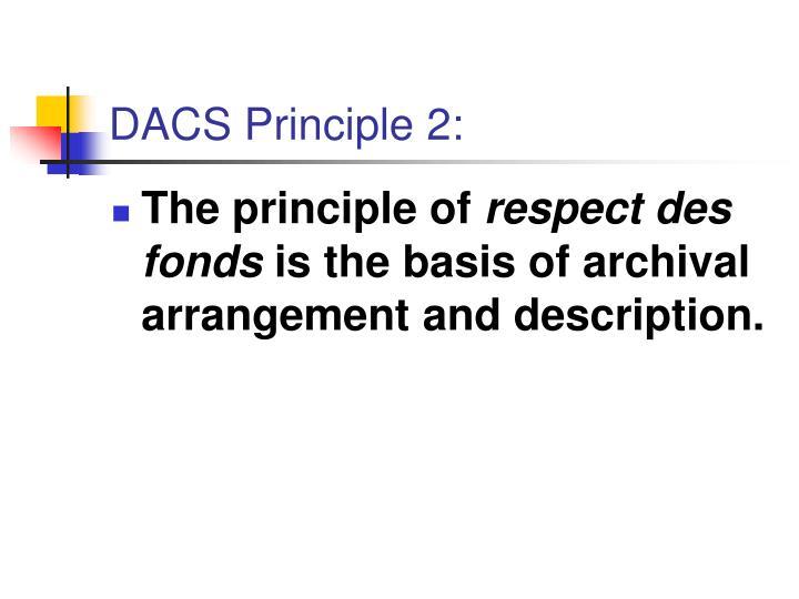DACS Principle 2: