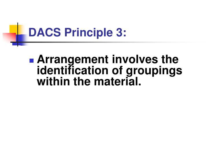 DACS Principle 3: