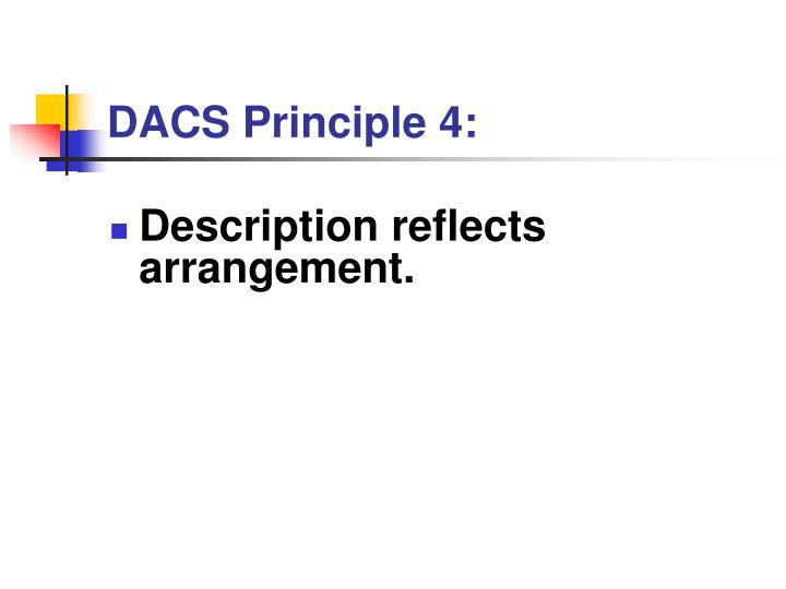 DACS Principle 4: