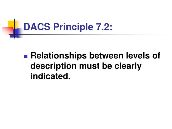 DACS Principle 7.2: