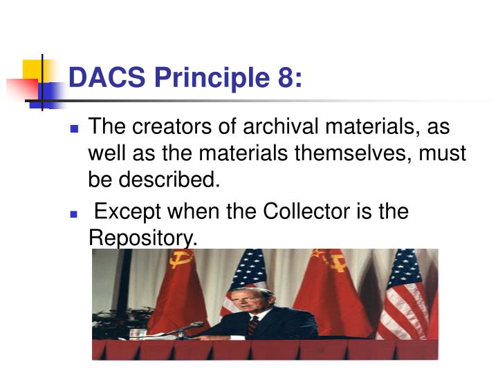 DACS Principle 8: