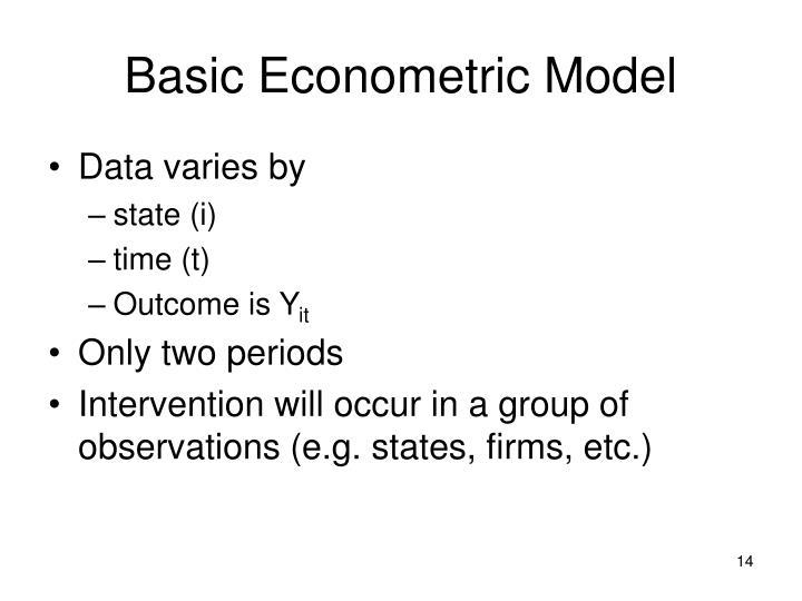 Basic Econometric Model