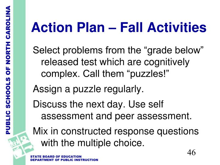 Action Plan – Fall Activities