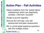 action plan fall activities