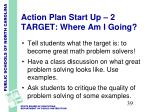 action plan start up 2 target where am i going