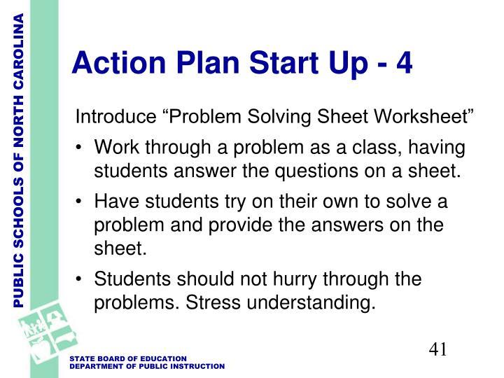 Action Plan Start Up - 4