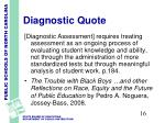 diagnostic quote